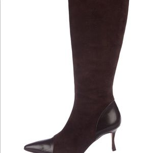 Manolo Bhahnik Brown suede/leather boots